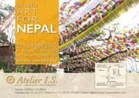 """Einladung """"art for Nepal"""" in der Galerie I.S. mit Klaus Kaufmann"""