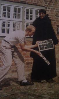 """Jörg Blanke """"hält die Klappe"""". Filmaufnahmen von 1989. Der Film ist leider verschollen!"""