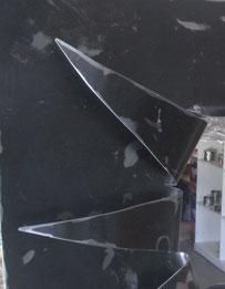 tole noire acier éclaté miroir glace brossé déco vintage