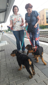 Ausflug an den Hennefer Bahnhof und auf den Marktplatz