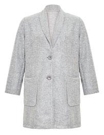 Damen-Mantel grau großen Größen