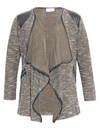 Jacke in großen Größen , Layer-Jacke braun meliert Gr 46