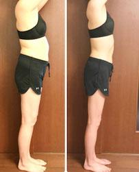 DNAパーソナル瘦身 40代女性 3ヶ月の結果 横