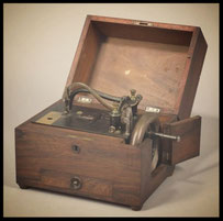 the first portable sewing machine