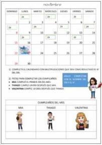 El calendario: NOVIEMBRE 2020