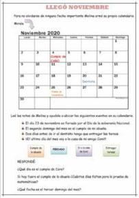 El calendario: NOVIEMBRE