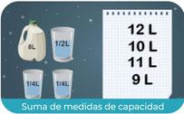 Suma de medidas del litro