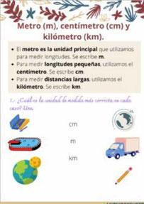 Cm, m y km