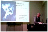 Johannes Conrad - Beginn des Vortrages am 22.10.2015
