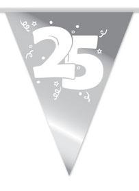Vlaggenlijn 25 zilveren huwelijk 10 m € 2,50