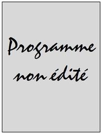 Programme  PSG-Sainte Genevieve  2018-19