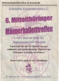 09.03.2013 6. Männerballettreffen