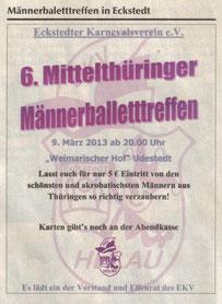 09.03.2014 6.Männerballetttreffen in Udestedt
