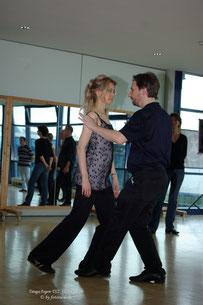 Tango-Workshop für Anfänger: gemeinsames Gehen