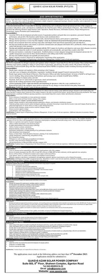 Job Opportunities Advertisement - 28/11/2013