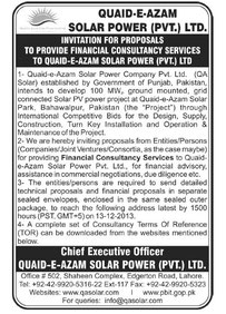 Financial Consultancy Services Advertisement - 27/11/2013