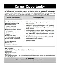 Job Opportunities Advertisement