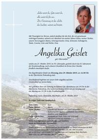 Parte Angelika Geisler +25.10.2019