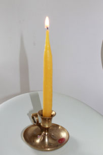 How to make beeswax candle tapers