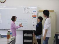 代表生徒がお礼に伺いました。
