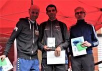Herren 10 km : v.l. Peter Haas - Rachid Soufi - Maurice Eisfeld