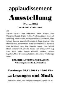 applaudissement Ausstellung in München 2015 2016