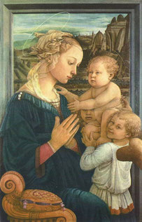 フィリッポ・リッピ「聖母子と二天使」 1465年頃