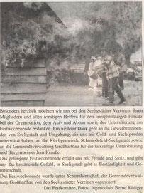 Bild: Teichler Seeligstadt Chronik 2008