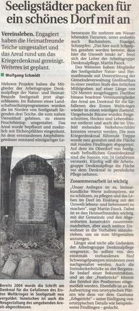 Bild: Teichler Seeligstadt Chronik 2006