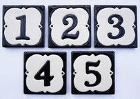 numéros de rue bicolore en lave émaillée