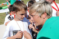 Sandra Minnert Fussballcamp mobile Fussballschule Autogramme Sportler