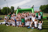 Mobile Fussballschule Sandra Minnert Fussballcamp ovag energie AG Hessen