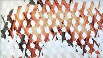 Rythme Corps, collage d'adhésif, 2011