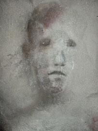 Stèles, sculpture en béton, 2003-2004