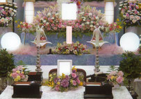 八潮市 格安一日葬 生花祭壇