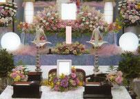 草加市 格安一日葬 生花祭壇