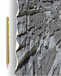 Materialstärke - Steinpaneel M-122 Lajastein Dark Sand