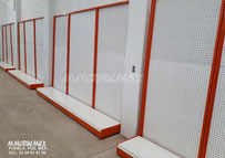Góndolas metálicas de pared linea MAX