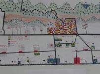 """KunstCodes im Baralch-Haus – """"Landkarte"""" von Saleh Alsawood"""