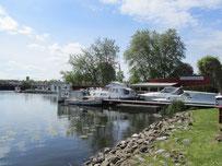 Motorboot Hafen Anklam