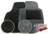 MERTEX-Autofussmatte CLASSIC -  Nadelfilz in Veloursoptik  100 % Polypropylen  Fasereinsatzgewicht: ca. 350 g/qm  Granulatrücken  textiler Hackenschutz/Trittschutz,  Farbe:  schwarz oder anthrazit