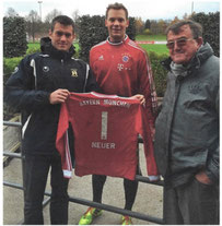 Jonathan Domergue, Manuel Neuer, André Honisch (2014)