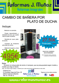 Cambio Bañera por Plato Vallecas