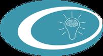Icon, Glühlampe mit Gehirn, Symbol für Querdenken