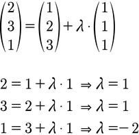 Ansatz zur Berechnung der Lage von zwei Geraden