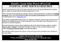 Internal Audit Advertisement