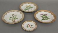 4 Teller - Royal Copenhagen Flora Danica