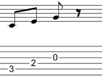 ギターアドリブ入門講座(初心者) 2拍パターン5-1
