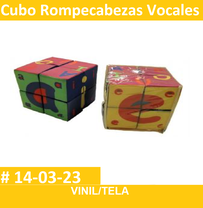 cubo de rompecabezas vocales  material didactico de estimulacion temprana en vinil