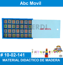 abc movil material didactico de madera